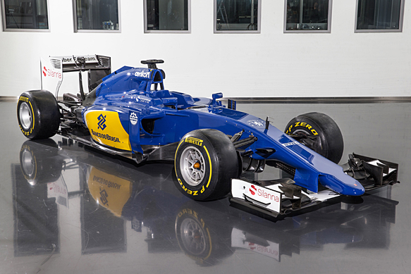 sauber reveals new look with its 2015 c34 formula 1 car f1 news. Black Bedroom Furniture Sets. Home Design Ideas