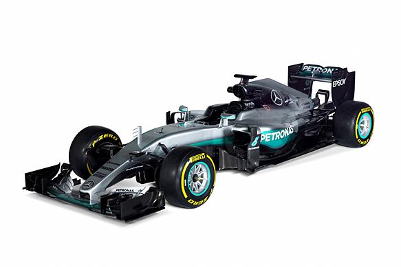 Mercedes reveals its 2016 formula 1 car the f1 w07 hybrid for Mercedes benz f1 drivers